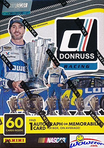 2017 Panini Donruss Nascar Racing EXCLUSIVE Factory Sealed Retail Box with AUTOGRAPH or MEMORABILIA Card & 10 Packs! Look for Cards & Autographs from Dale Earnhardt, Jimmie Johnson & More! WOWZZER!