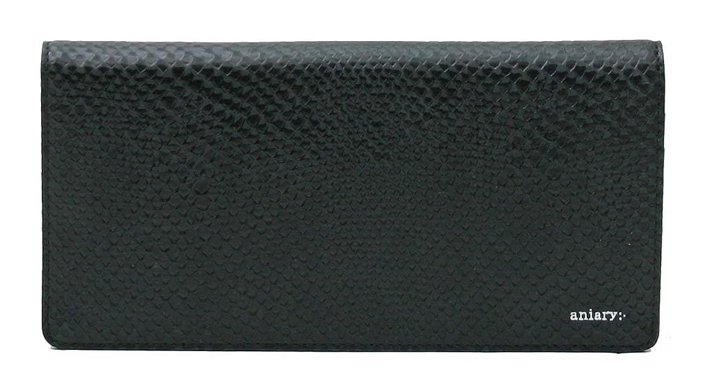 暴徒トラフ浸すアニアリ 長財布 aniary Scale Leather かぶせ 18-20007