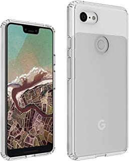 DIOFAS [Fusion] Compatible with Pixel 3 XL Case, Clear Transparent PC Back TPU Bumper [Drop Defense] Raised Bezels Scratch Protection Natural Form Cover for Google Pixel 3 XL - Clear