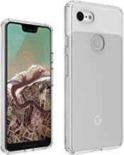 DIOFAS [Fusion] Compatible with Pixel 3 Case, Clear Transparent PC Back TPU Bumper [Drop Defense] Raised Bezels Scratch Protection Natural Form Cover for Google Pixel 3 - Clear