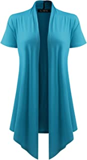All You Women's Soft Drape Cardigan Short Sleeve Made in USA