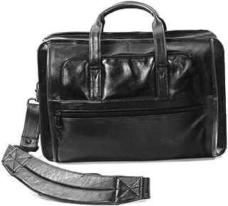 Cowhide Leather Briefcase Color: Black