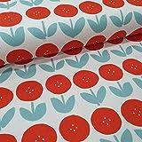 Schickliesel Canvas Meterware Blumen rot/Mint