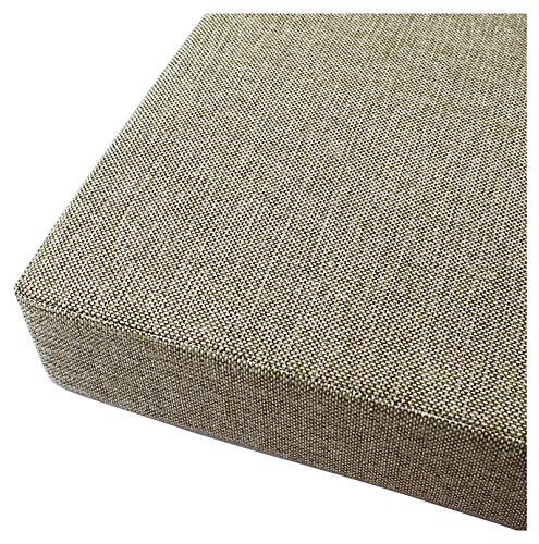 Cojín Colchón para Palet Sofá Banco Asiento Cómodo para Muebles Exterior Cojines para Bancos Brown White-Blanco marrón 80x35x5cm(31x14x2in)