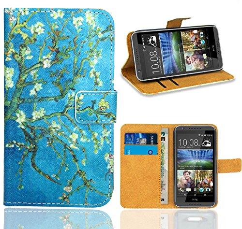 FoneExpert® HTC Desire 820 Handy Tasche, Wallet Hülle Flip Cover Hüllen Etui Ledertasche Lederhülle Premium Schutzhülle für HTC Desire 820