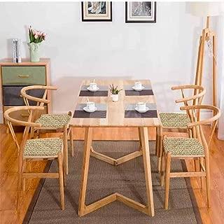 Tulip Dining Table Chair Vintage Floral Arrangement Comfortable W13.5