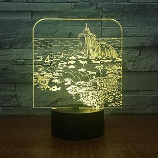 Veilleuse USB Produits créatifs Lampe visuelle 3D décoration de la Chambre à Coucher Lampe pour Enfants ambiante lumière d...