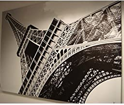 New Ikea Eiffel Tower Picture with Frame/canvas Large 55 X 78 Inches