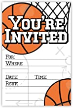 Basketball Party Invitations (20 Count) with Envelopes