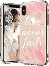 MOSNOVO iPhone Xs Max Case, Love Never Fails Pattern Printed Clear Design Transparent Plastic Back Case with TPU Bumper Protective Case Cover for iPhone Xs Max