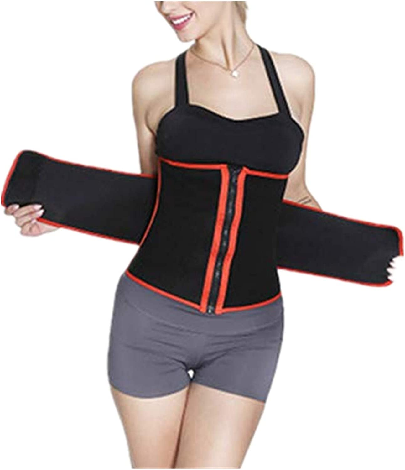 Fankle Women Waist Trainer Belt Tummy Control Sweat Girdle Workout Slim Belly Band for Weight Loss