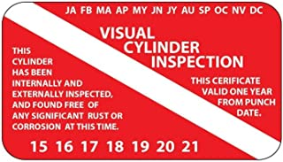scuba visual inspection stickers