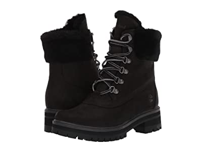 Timberland 6 Courmayeur Valley Shearling Waterproof Boot (Black Nubuck) Women