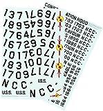 Round 2 ROUND2mka010/121/350Star Trek USS Enterprise Registry Decals Modellino in plastica, Modello Ferrovia Accessori, Hobby, modellismo, Multicolore