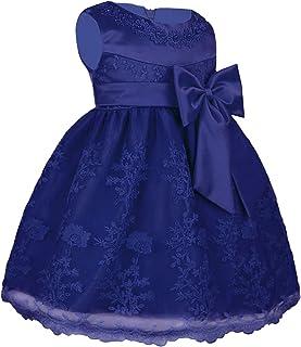 ee24546ac54b8 freebily Bébé Filles Coton Robe De Mariage Cérémonie Robe de Soirée  Demoiselle Robe Organza Tutu Noeud
