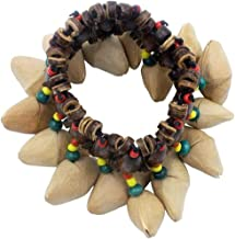 MUPOO Handbell Percussion Accessories African Tribal Style Nuts Shell Bracelet Dora Nut