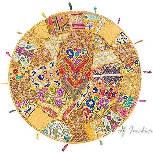 comprar mejor Eyes of India - 40  amarillo amarillo amarillo Grande rojoondo de Colors Suelo Meditación Funda de Cojín Almohada Asiento Colgante Decorativo Indio Bohemio Boho Funda - amarillo Oscuro  13  los clientes primero
