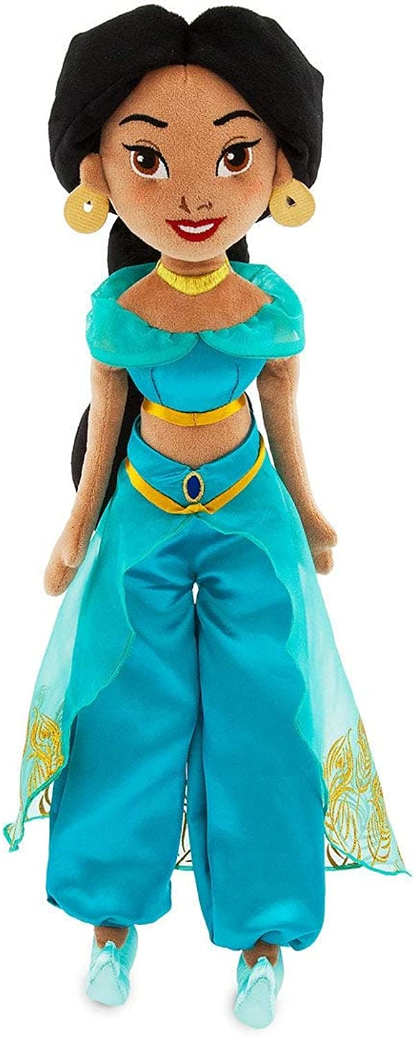 Disney Store Exclusive - 18   45 cm Soft, Adorable New 2019 Jasmine Plush Doll - with Long Velvety Hair. Inspired by The Movie Aladdin