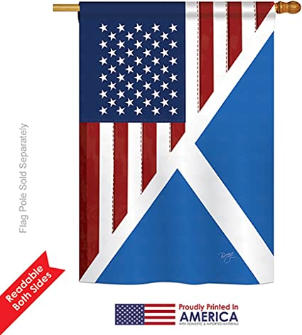 Amazon Com Breeze Decor Us Scotland Friendship Large Flag 28 Inches By 40 Inches Garden Outdoor