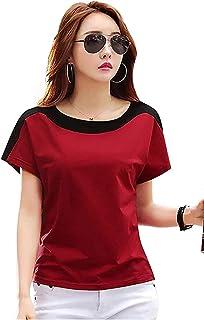 Ytrick Multi Women Cotton Casual Half Sleeves Round Neck Tops Tshirt Shirt…