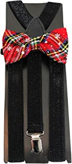 Christmas & Holiday Bowties & Suspender Combos Adult Kids