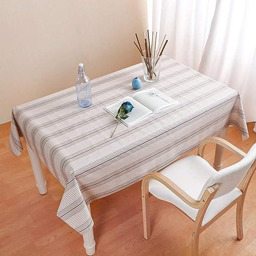 promociones WENYAO Plastic tabcloth Striped Tablecloth Nordic Tablecloth Tablecloth Tablecloth rectangmodern Simpwaterproof Anti-Hot Oil-Proof Coffee Dining tabcovering,D_13780cm  Esperando por ti