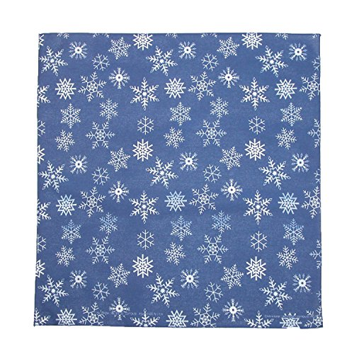 CTM Glitter Snowflake Bandana, Blue