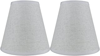 Urbanest Set of 2 Hardback Woven Paper Empire Lamp Shade 5-inch by 9-inch by 8.5-inch, White, Spider Washer Fitter
