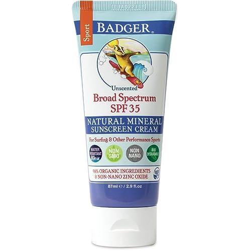 Badger Balm SPF 35 Sport Sunscreen Cream- 2.9 oz