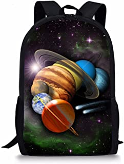 Fashion Kids Schoolbag Universe Space Printed Backpack for Teenager Boys Back to School