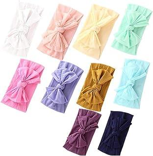 Baby Nylon Headbands Hairbands Hair Bow Elastics for Baby Girls Newborn Infant Toddlers Kids (Super soft-A)