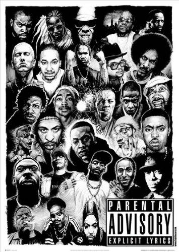 GB Eye Poster Rap Gods, 61x91,5cm, Größe: Maxi