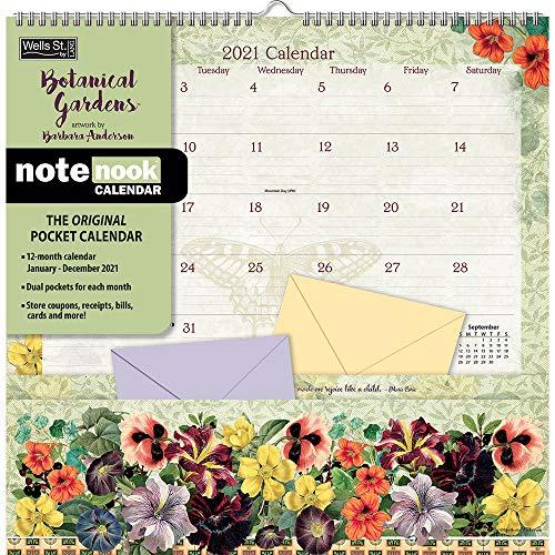 Botanical Gardens 2021 Note Nook Calendar