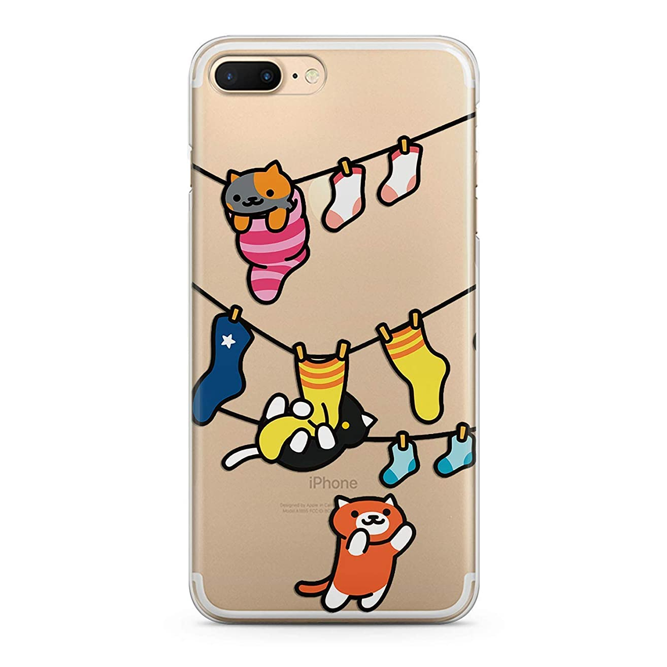 Lex Altern TPU Case for iPhone Apple Xs Max Xr 10 X 8+ 7 6s 6 SE 5s 5 Girl Clear Colored Kitties Design Print Teen Animal Theme Gift Yellow Lightweight Cover Cats Flexible Slim fit Smooth Soft Funny