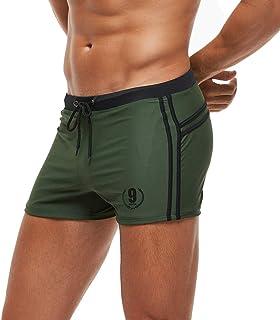 Arcweg Men's Swimming Trunks Shorts Sport Boxer Swimwear Boxers Underwear Drawstring Summer Beach Board Shorts Elastic Swi...