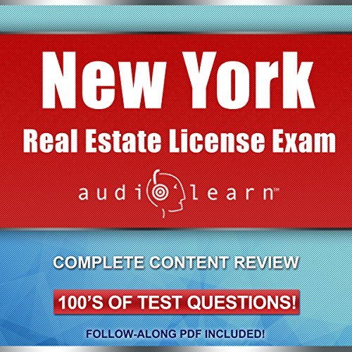 New York Real Estate License Exam AudioLearn audiobook cover art