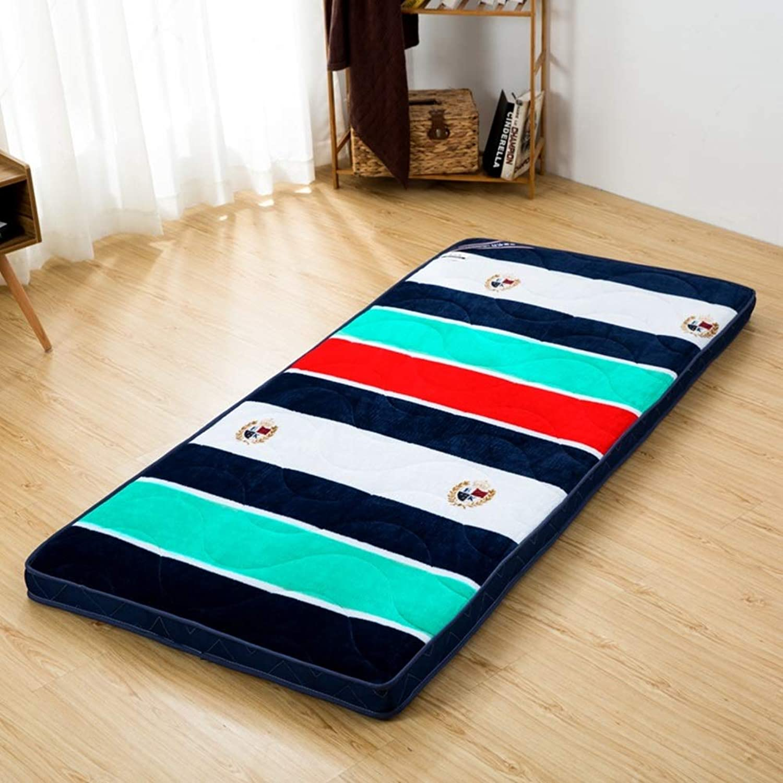 Tatami Mattress Topper, Futon mat Foldable Breathable Tatami Floor Mattress Pads Predectors for Student Dormitory-I 90x200x4cm