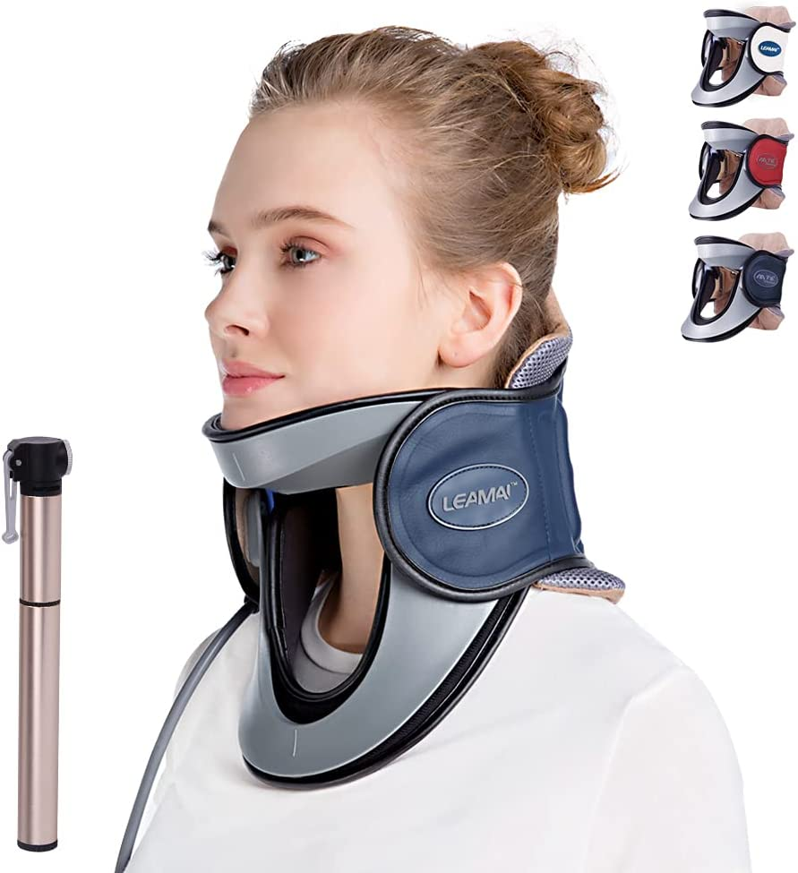 LEAMAI Newest Popular brand in the world Cervical Louisville-Jefferson County Mall Neck Traction Inflatabl Device-Adjustable