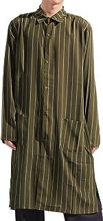 バレッタ ストライプ ロング丈 シャツ カーディガン 長袖 ビッグ ワイド ストリートモード 春 メンズ