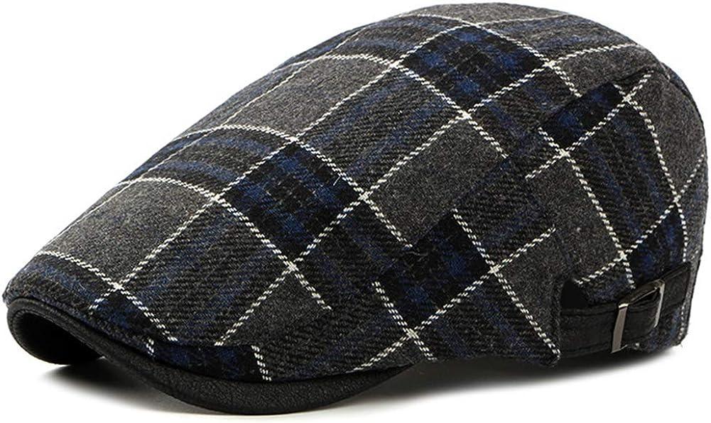 Men' s Gatsby Hats Irish Newsboy Flat Vintage Beret Ivy Cabbie Driving Cap Father Husband Gift