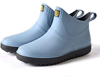 SFGSA Rain Boots For Men Waterproof Outdoor Insulated Ankle Boots Adult Outdoor Work Lightweight and Durable Protective Fo...