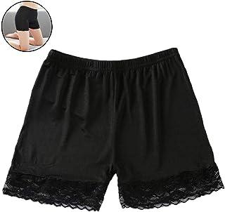 0bcfdc1c365 Pantalones Mujeres Suave Atractiva del Cordón del Algodón Sin Fisuras De  Seguridad A Corto Verano Debajo