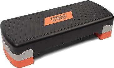 Phoenix Fitness RY1010 Stepper voor aerobics fitness, stepper, in hoogte verstelbaar tot 2 treden, 10 cm en 15 cm, cardio-...