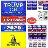 GABOX Trump Flag Trump Flags 3x5 Outdoor Trump Flag 2020 Dont Tread On Me Flag 3x5 Cool Flags Trump MAGA Merchandise Trump 2020 Sticker Temporary Tattoos Us Flags Donald Trump Gifts Trump Stuff