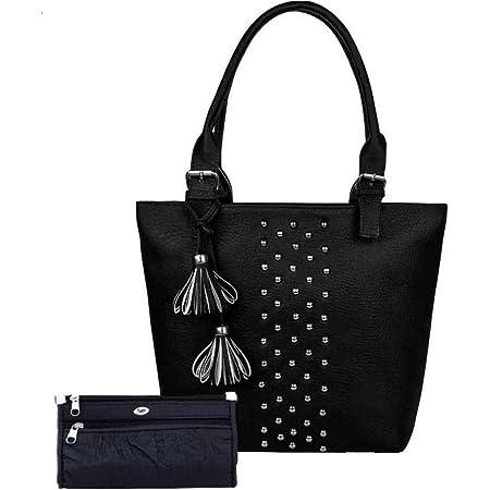 Bellina® Women's Handbag in Premium Black Shoulder bag and wallet for women