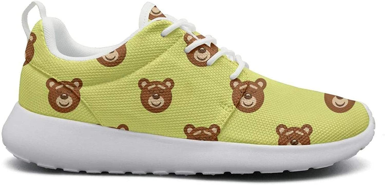 FEWW11 Women Cool Lightweight shoes Sneakers Bear Baby Bear Decor Canvas Upper Sport Lace-Up