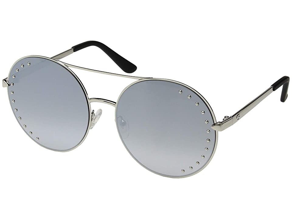 GUESS GU7559-S (Shiny Light Nickeltin/Smoke Mirror) Fashion Sunglasses