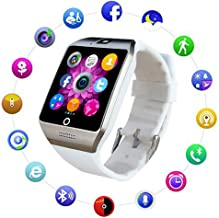 XIANGXIHUI Bluetooth Smart Watch Fitness Tracker - Sport Watch Touch Screen with Camera Pedometer Sleep Monitor Call/Message Reminder Music Player Anti-Lost - Compatible Android Smartwatches (White)