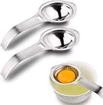 2 Pieces Egg Separator, Stainless Steel Egg White Yolk Filter Egg Sieve Kitchen Gadget Cooking Tool
