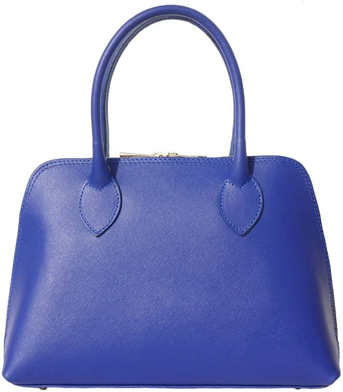 Borse in Pelle Saffiano Leather TOP Handle Bag Electric bluee